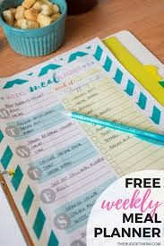 weekly meal planning for two my solution to meal planning free weekly meal planner the budget