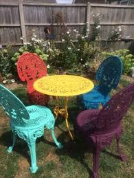 yellow patio furniture. Painted Patio Furniture Yellow R