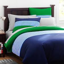 cool green and blue striped bedding nantucket stripe duvet cover sham navy pbteen lime