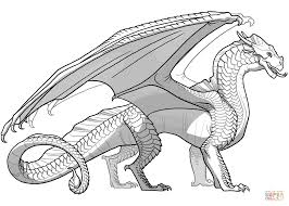 Wings Of Fire Sandwing Dragon Coloring Page Free Printable