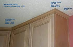 kitchen cabinet molding crown to ceiling