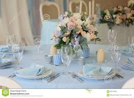 Wedding Reception Table Layout Festive Table Layout Wedding Decor Stock Image Image Of Glass