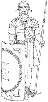 An Elite Roman Soldier And His Equipments Coloring Page Coloring Home