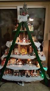 Christmas Tree Village Display Stands Awesome Christmas Village Display Stand Christmas Ideas And Crafts