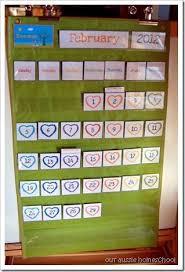Our Aussie Homeschool Pocket Chart Calendar Printables