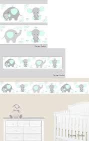 Nursery Elephant Wallpaper Border (Page ...