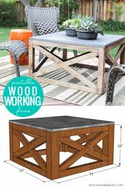diy square wood coffee table indoor or