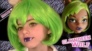 kittiesmama clawdeen wolf dawn of the dance monster high doll costume makeup tutorial for you
