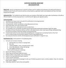 Cna Job Description Resume Beauteous Duties Of Nurse Assistant Skills Job Description Skills Private Duty