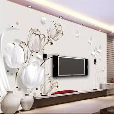 Beibehang Aangepaste Behang 3d Foto Muurschildering Stereo Tulp