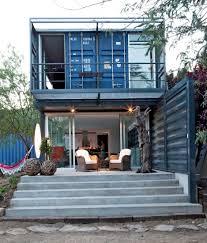 Shipping Container House in El Tiemblo Porch