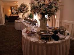 buffet decoration ideas wedding table decorating photo gallery of reception 2 round tables on each end