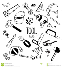 Doodle Tools Hand Drawing Styles For Tools Stock Vector