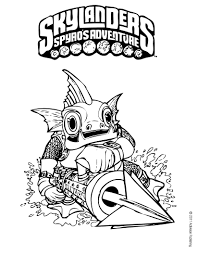 Skylanders Coloring Page Gill Grunt