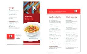Dinner Party Menus Sample Templates Dine In Menu Template Fine