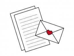 ハートマークの手紙イラスト素材 イラスト無料かわいいテンプレート