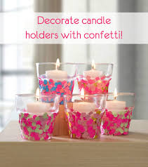 Simple Candle Decoration Make Confetti Candle Holders Mod Podge Rocks