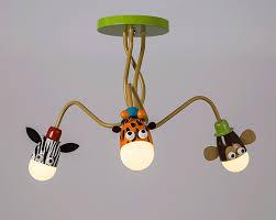 Creatieve Ingekleurd Mooie Cartoon Dieren Artistieke Led Plafondlamp
