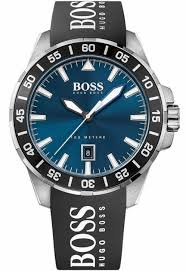 men s hugo boss black silicone strap watch 1513232