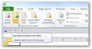 Downloadable Excel Spreadsheets Use Online Data In Excel 2010 Spreadsheets