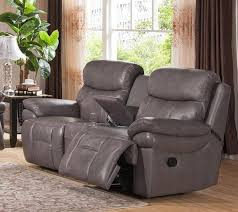 smoke grey real genuine leather reclining loveseat amax leather summerlands reviews amax summerlands