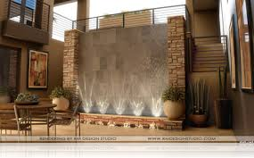 modern wall water fountains photo