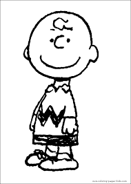 Snoopy Color Page Coloring Pages For Kids Cartoon Characters