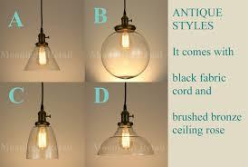 new modern vintage industrial retro loft ball glass shade pendant light antique