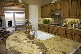 Rounded granite counter kitchen island