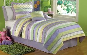purple green comforter sets sage green and purple comforter comfy anna s ruffle quilt set girls