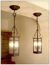 country vintage wrought iron pendant lighting square shaped bulbs chained  black colors customable personalised