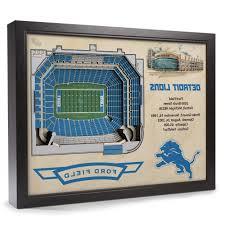 popular detroit lions stadiumview wall art ford field 3 d reion inside baseball 3d wall