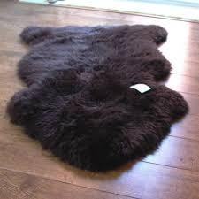 chocolate sheepskin rug single
