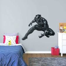 black panther officially licensed marvel life size removable wall decal fathead superhero wall decals australia