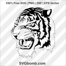 tiger face clip art svg cutting file