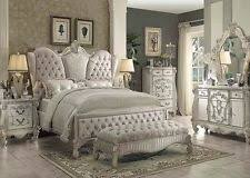 Amazing Antique Bedroom Furniture Formal Luxury Antique Versailles White  Queen Size 4 Piece Bedroom Set Furniture