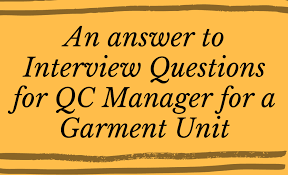 Job Interview Questions And Answers Answer To Quality Control Job Interview Questions In The
