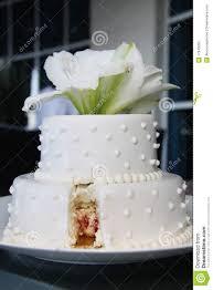 Small Pretty Wedding Cake Modern Cut Stock Photo Image Of Simple