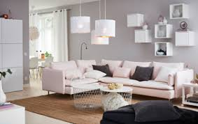 ikea white living room furniture. A Medium-sized Living Room Furnished With Large Corner Sofa In Light Pink Ikea White Furniture L