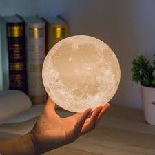 3d magical moon lamp usb led night light moonlight kids xmas gift touch sensor features