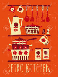 Retro Kitchen 49160 Retro Kitchen Cliparts Stock Vector And Royalty Free Retro