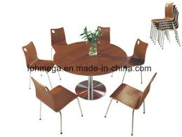 hoting big round dining table with stainless steel legs foh bc30