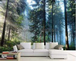 Beibehang Foto Behang Natuurlijke Bos Bomen Zitkamer Slaapkamer Muur