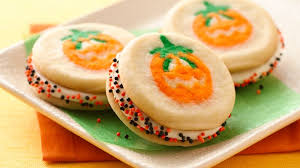 pillsbury halloween sugar cookies. Playful Pumpkin Sandwich Cookies Intended Pillsbury Halloween Sugar