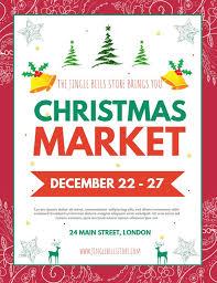 Christmas Flyer Templates Christmas Market Advertisement Poster Flyer Template