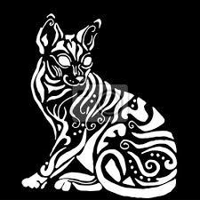 Obraz Hiqh Kvalitní Egyptský Kočka K Barvení Nebo Tetování Cornish