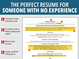 Resume Template For High School Student With No Work Experience Free
