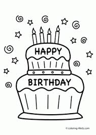 Small Picture Happy Birthday Cake Coloring Page aecostnet aecostnet