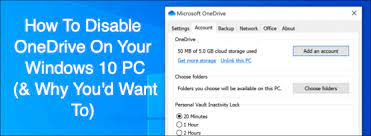 to disable onedrive on your windows 10