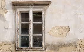 Windows 30 Mit Ziegeln Gedecktes Hölzernes Fenster Auf Einem